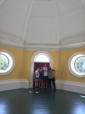 Poplar Forest field school students in the Dome Room of Monticello